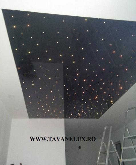 Tavan Extensibil - Material Negru Lucios